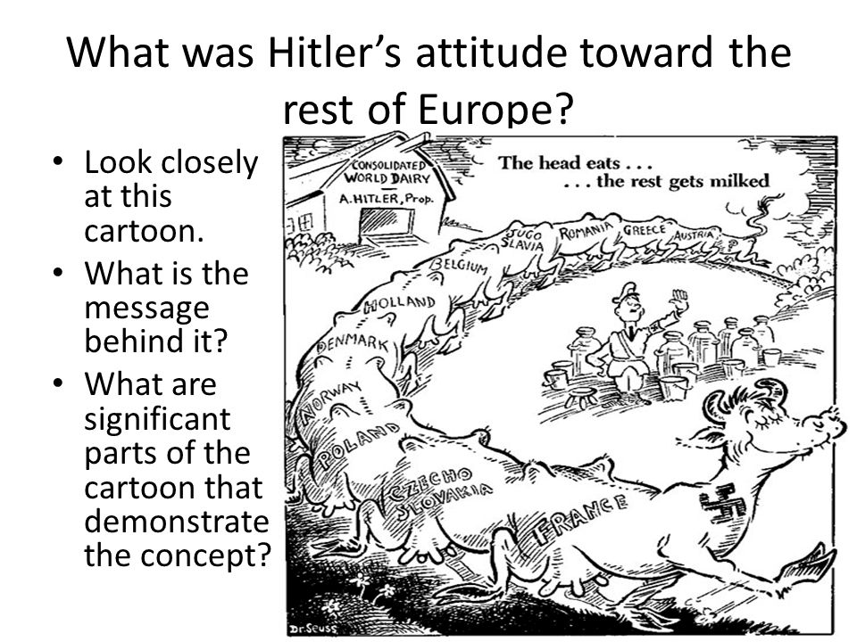 What was Hitler's attitude toward the rest of Europe