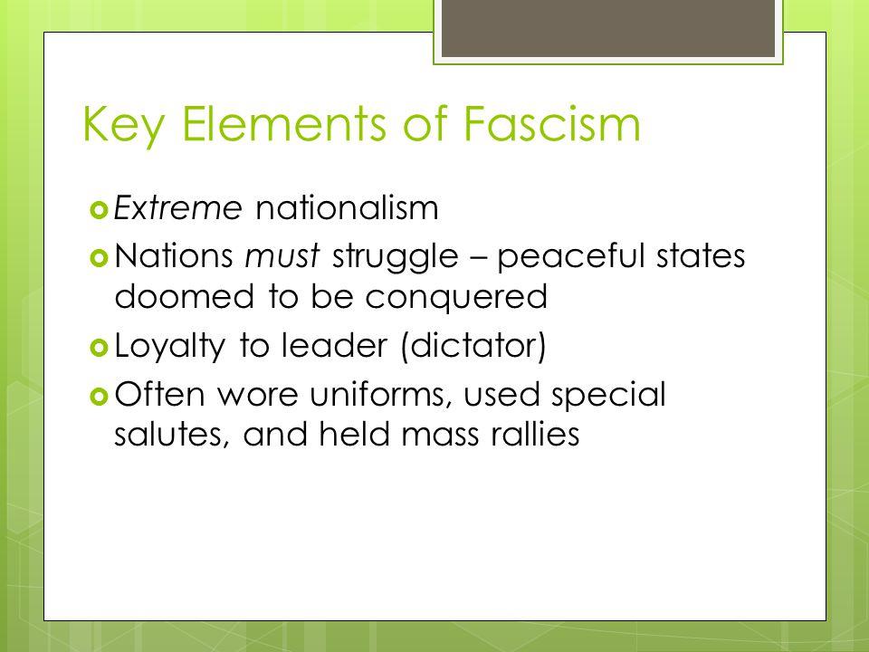 Key Elements of Fascism