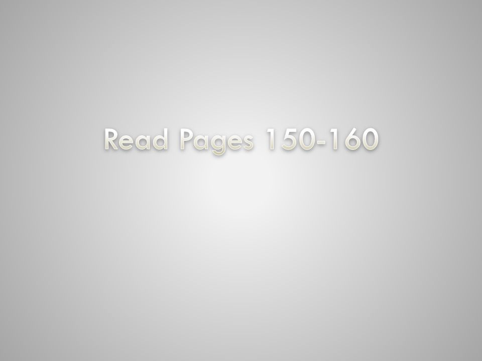 Read Pages 150-160 Gradient-filled text with soft shadow (Basic)