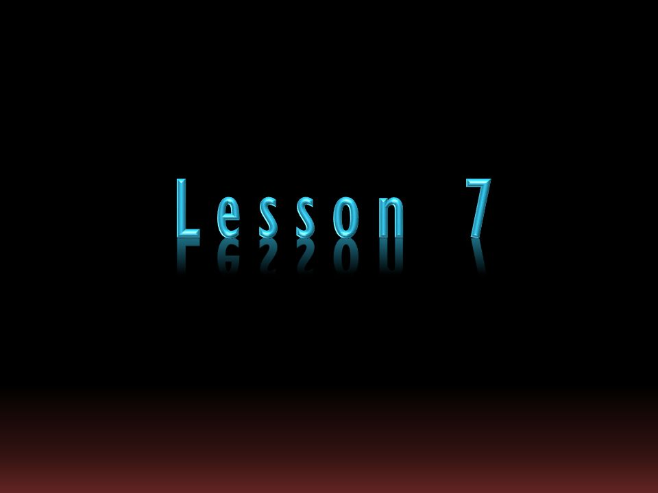 Lesson 7 Expanded text with bevel and reflection (Basic)