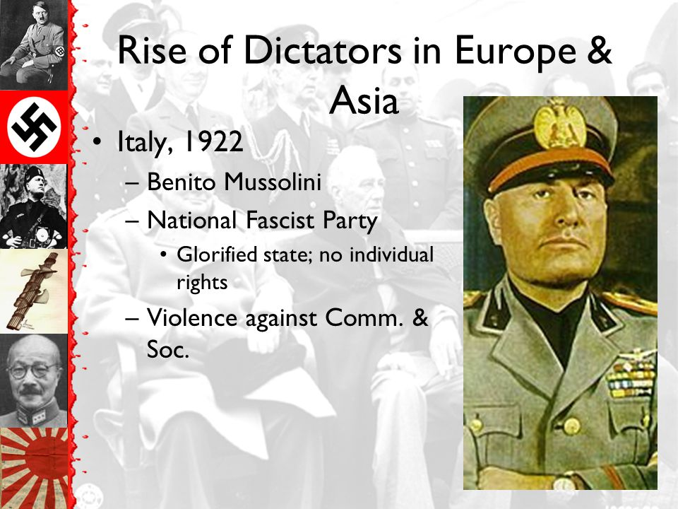 Rise of Dictators in Europe & Asia