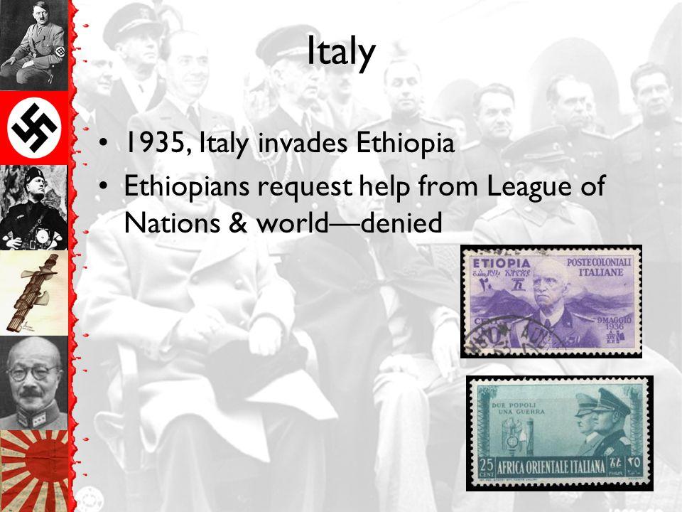 Italy 1935, Italy invades Ethiopia