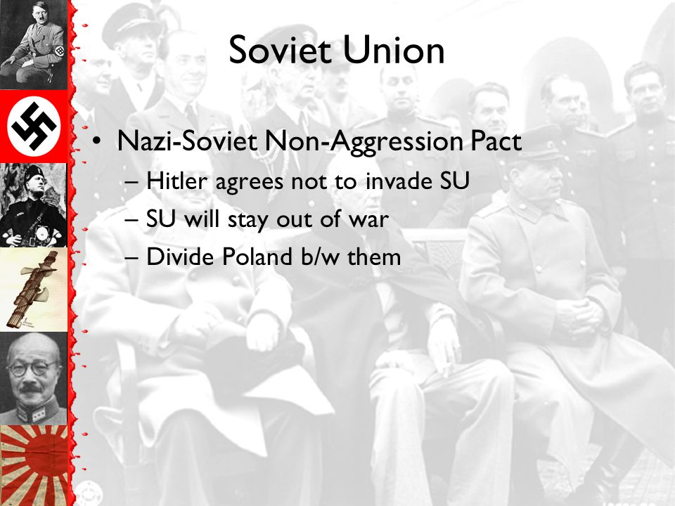 Soviet Union Nazi-Soviet Non-Aggression Pact