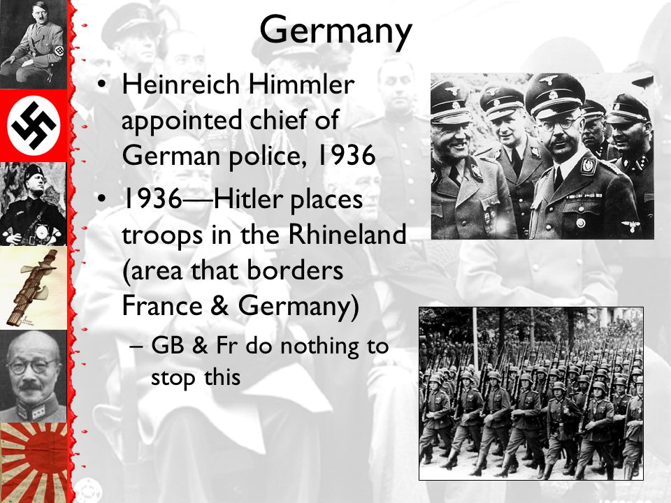 Germany Heinreich Himmler appointed chief of German police, 1936