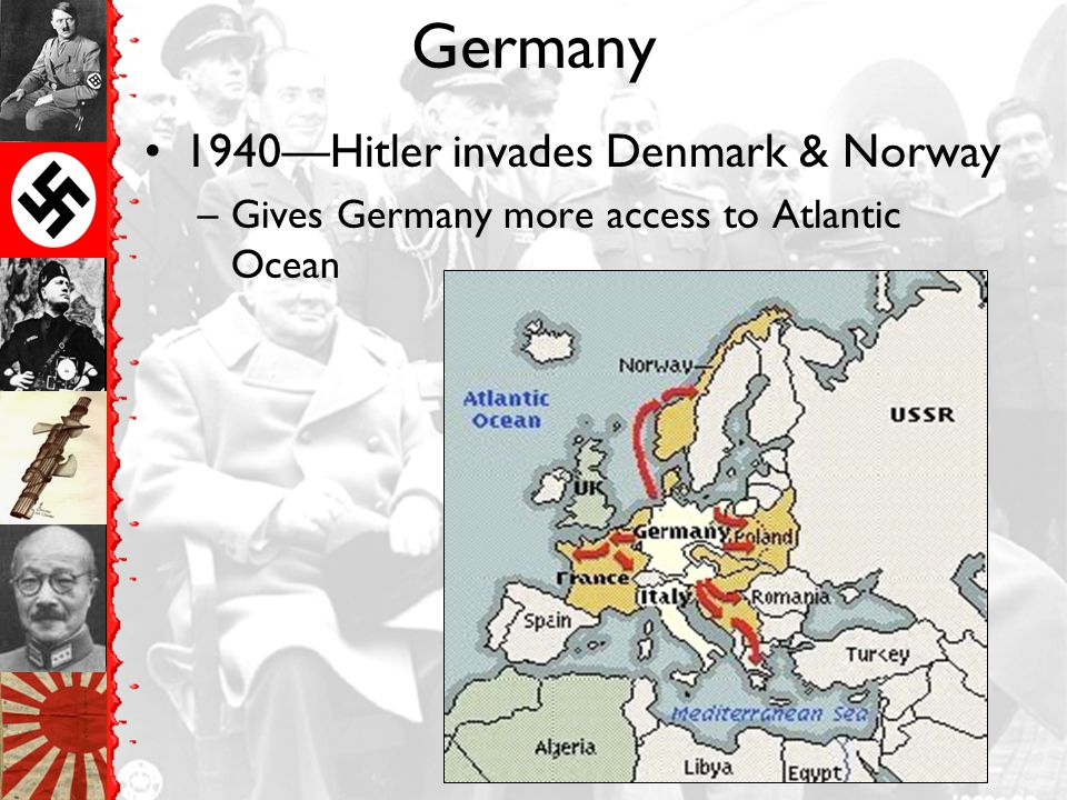 Germany 1940—Hitler invades Denmark & Norway