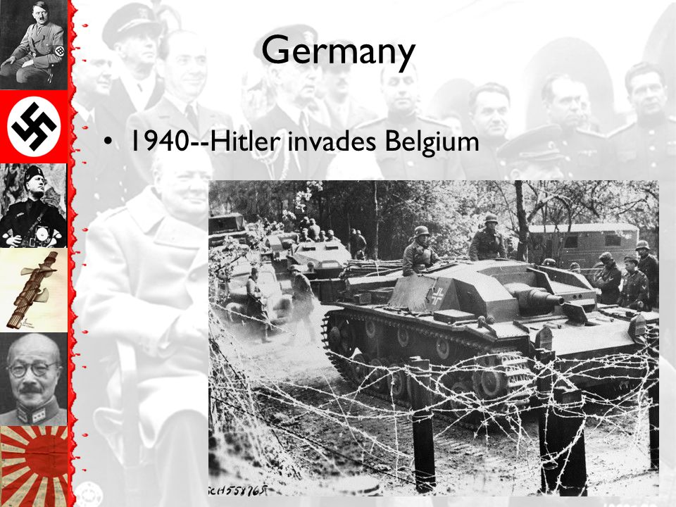 Germany 1940--Hitler invades Belgium
