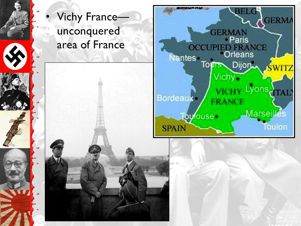 Vichy France—unconquered area of France