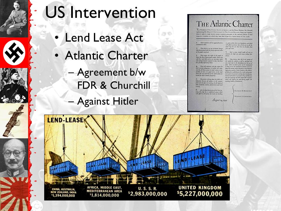 US Intervention Lend Lease Act Atlantic Charter