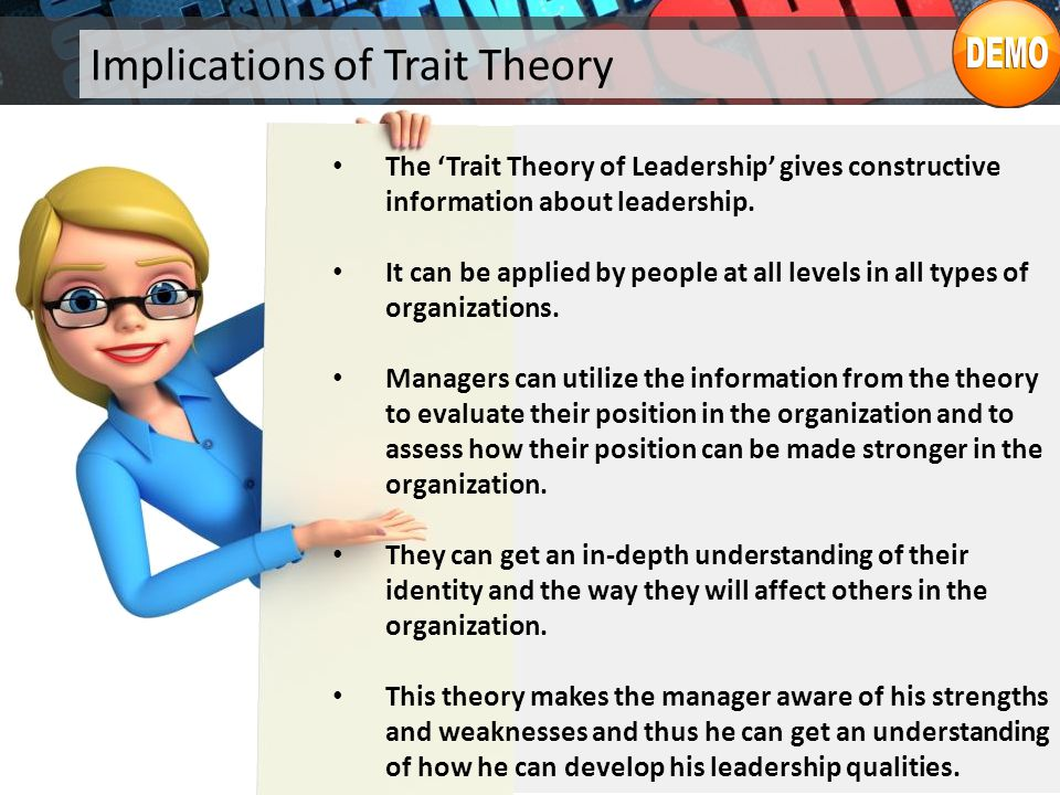 Implications of Trait Theory