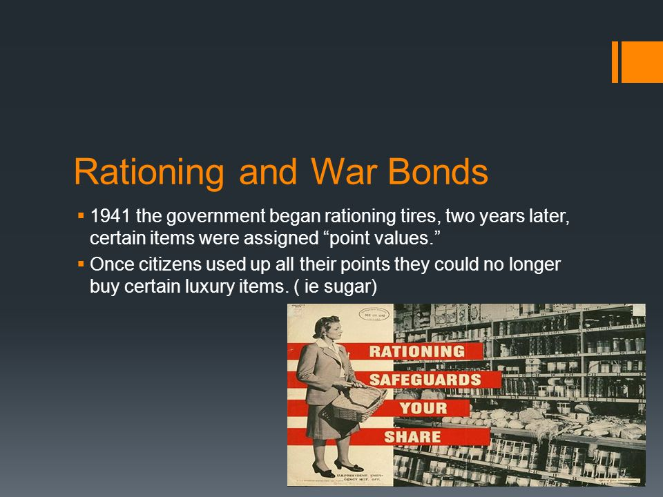 Rationing and War Bonds