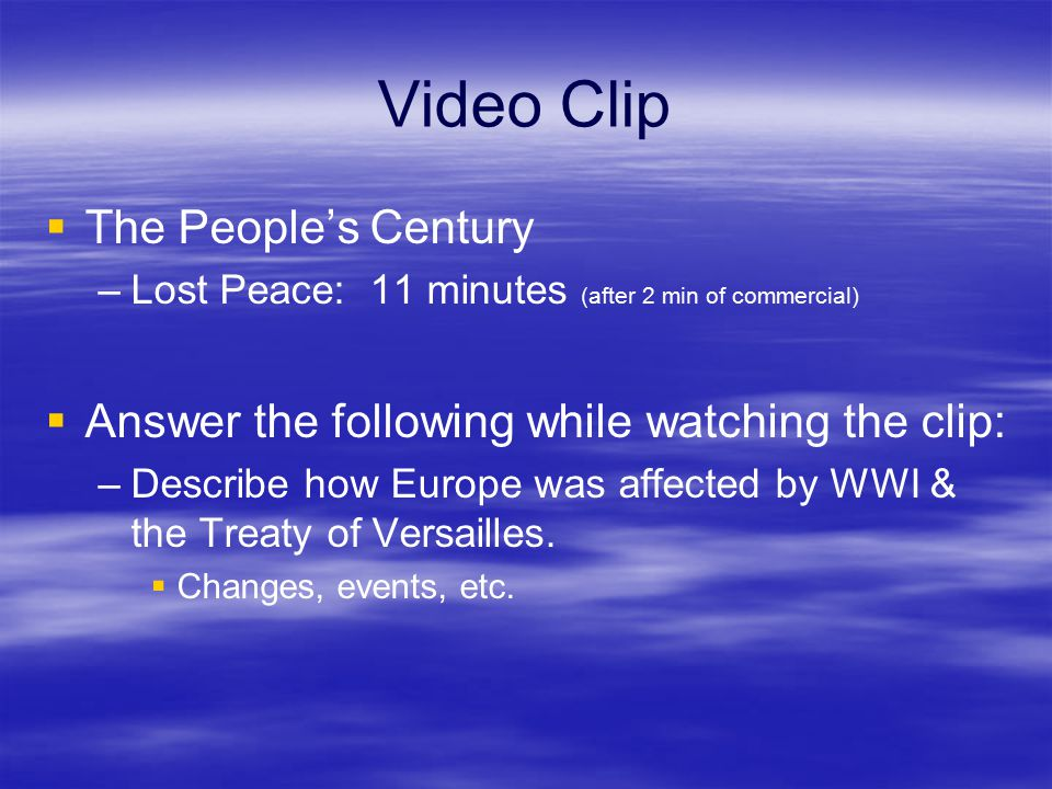 Video Clip The People's Century