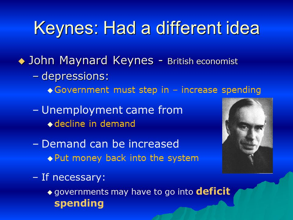 Keynes: Had a different idea