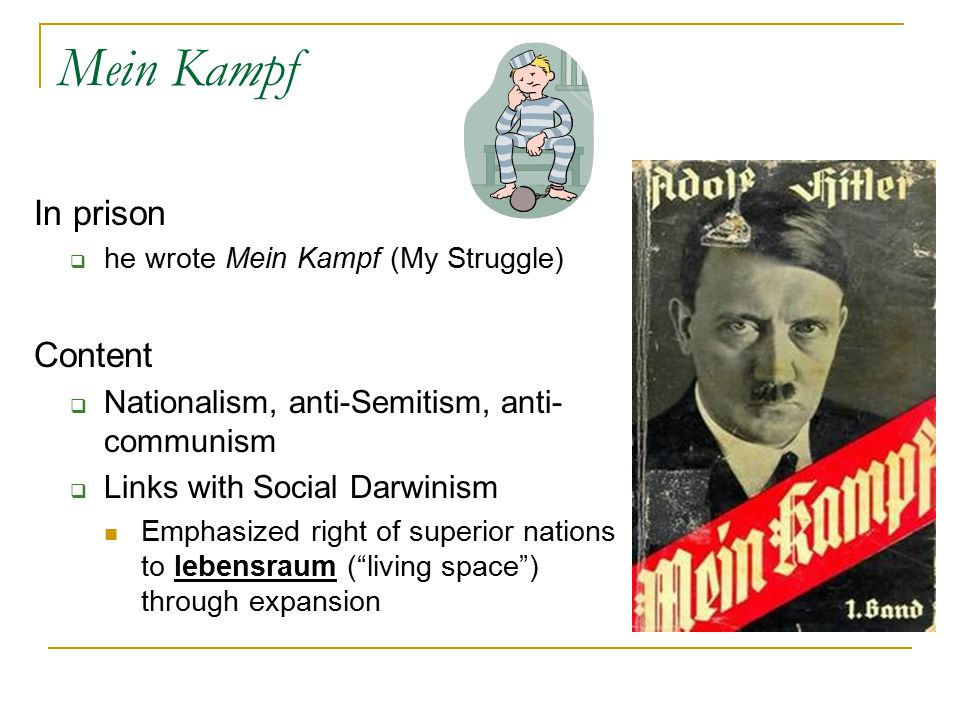Mein Kampf In prison Content