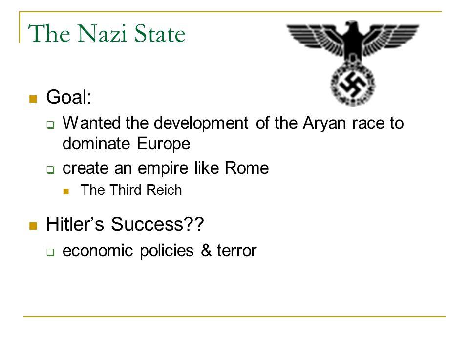 The Nazi State Goal: Hitler's Success
