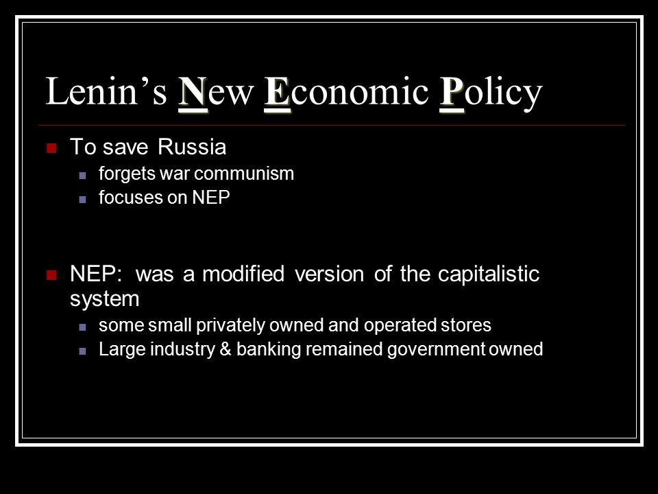 Lenin's New Economic Policy