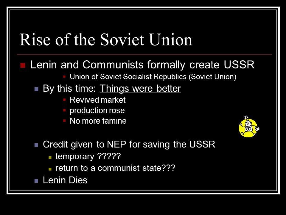 Rise of the Soviet Union