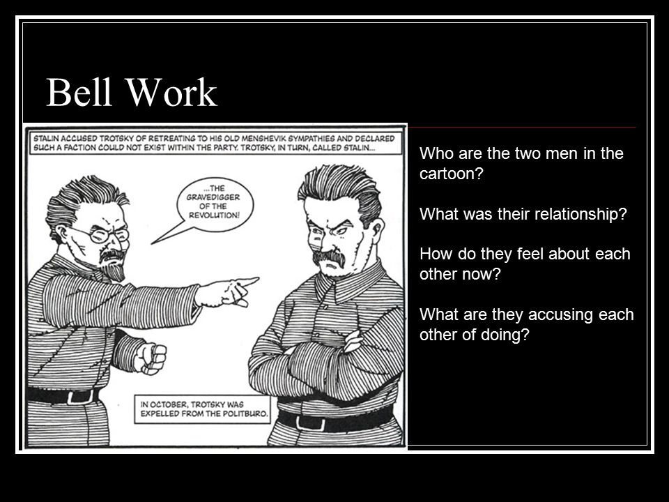 Bell Work Who are the two men in the cartoon