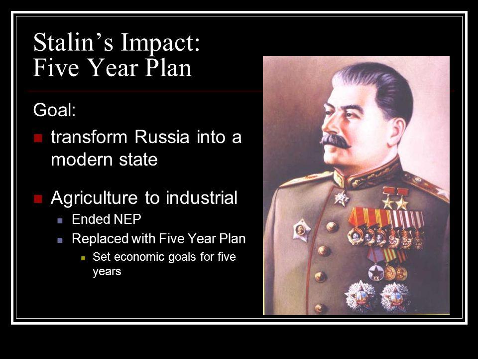 Stalin's Impact: Five Year Plan