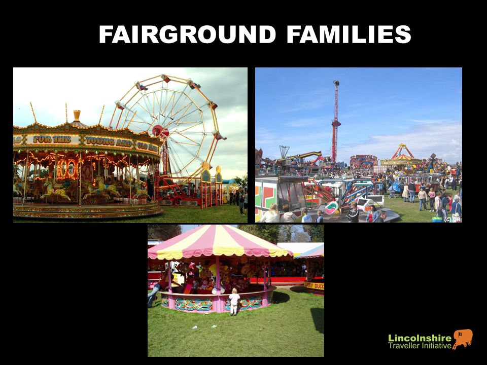 FAIRGROUND FAMILIES Showmen are Travellers who work with circuses and travelling shows.