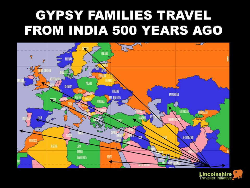 GYPSY FAMILIES TRAVEL FROM INDIA 500 YEARS AGO