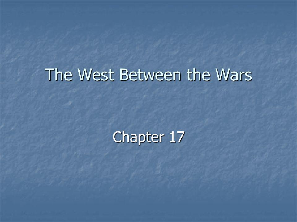 The West Between the Wars
