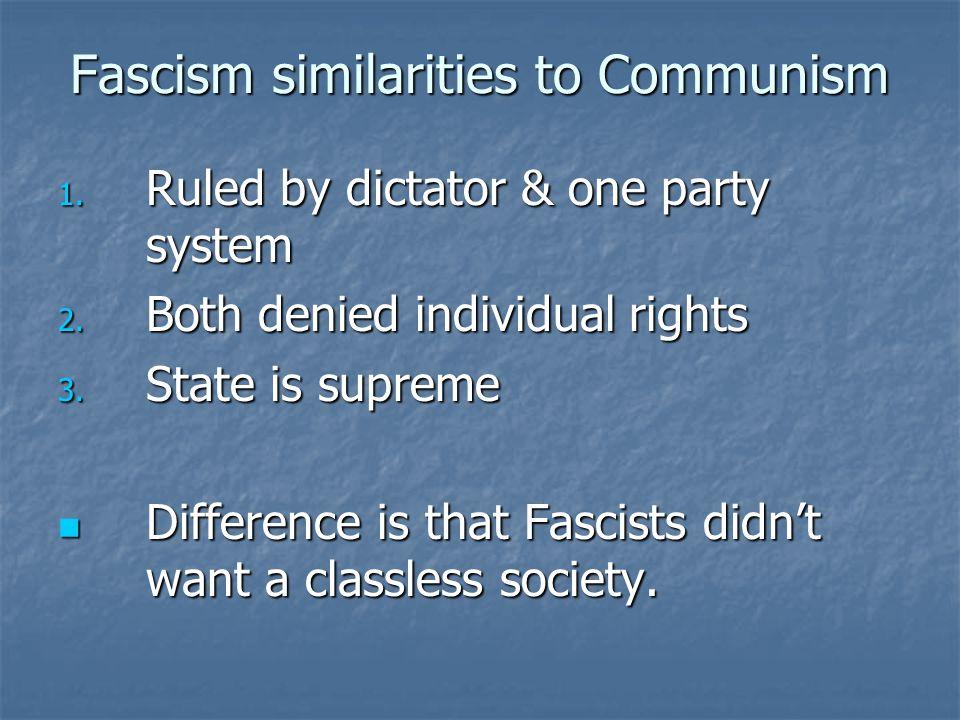Fascism similarities to Communism