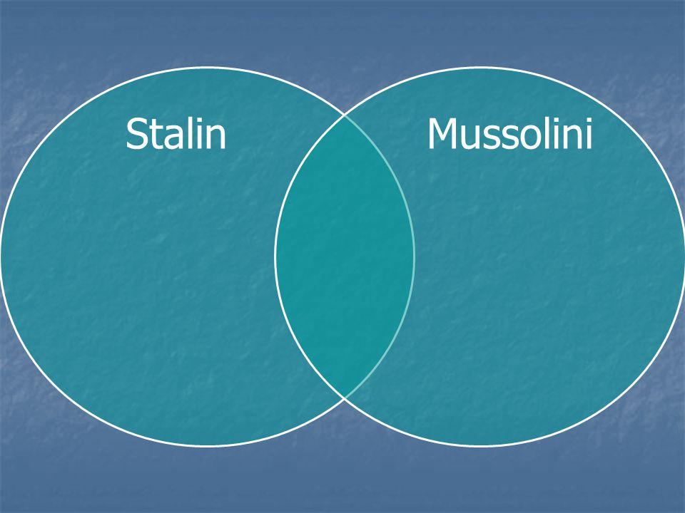 Stalin Mussolini