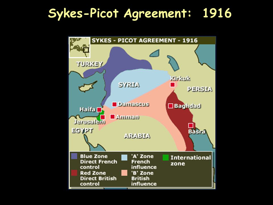 Sykes-Picot Agreement: 1916