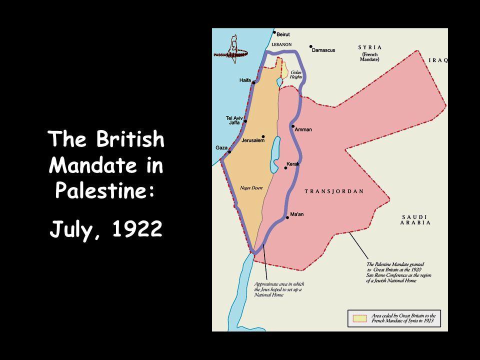 The British Mandate in Palestine: