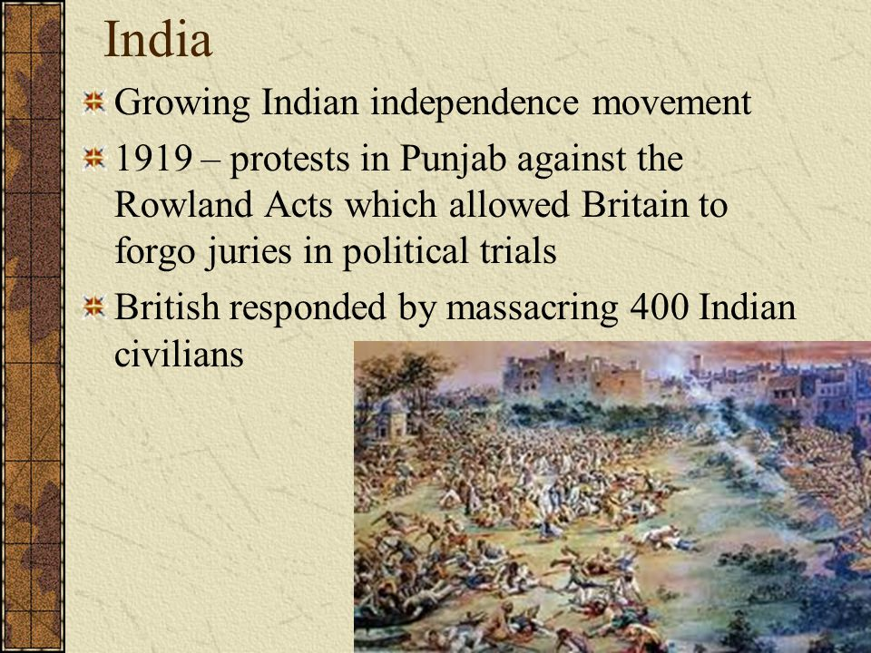 India Growing Indian independence movement