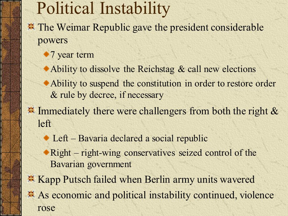 Political Instability