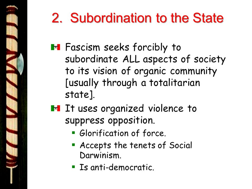 2. Subordination to the State