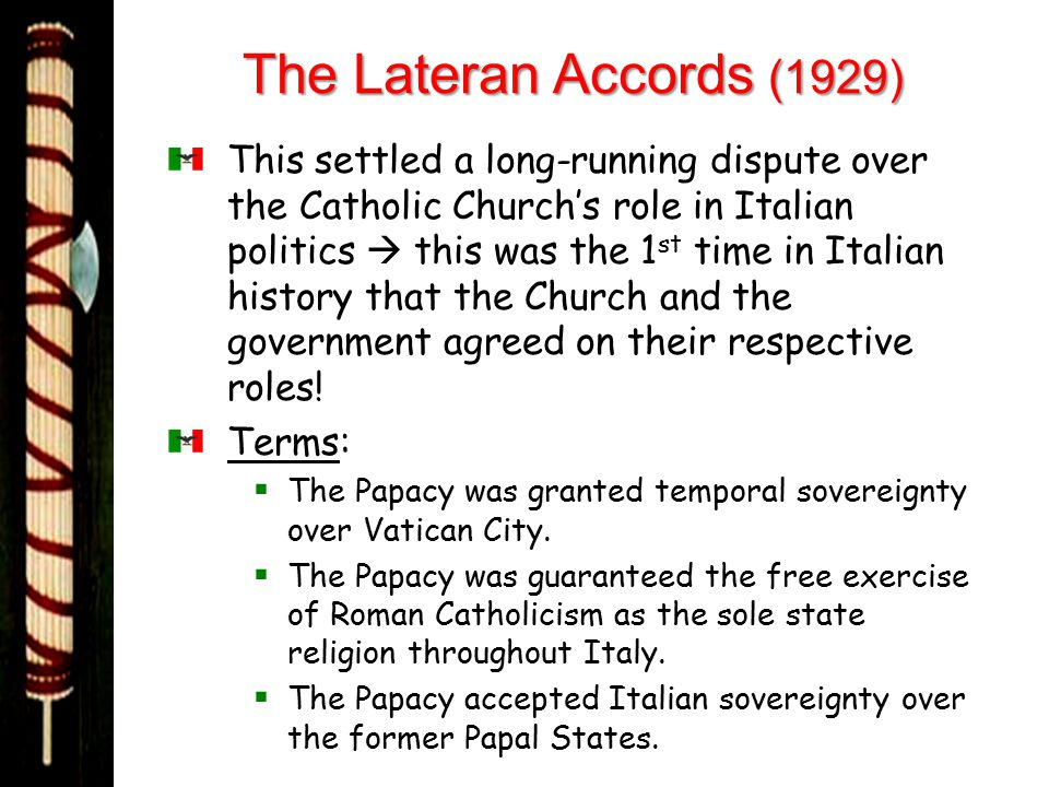 The Lateran Accords (1929)