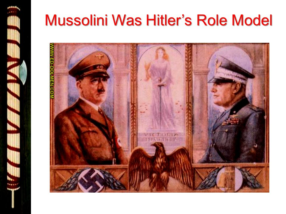 Mussolini Was Hitler's Role Model