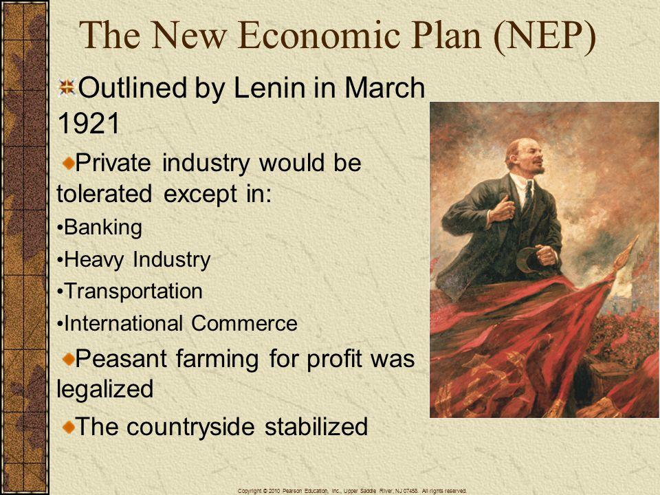 The New Economic Plan (NEP)