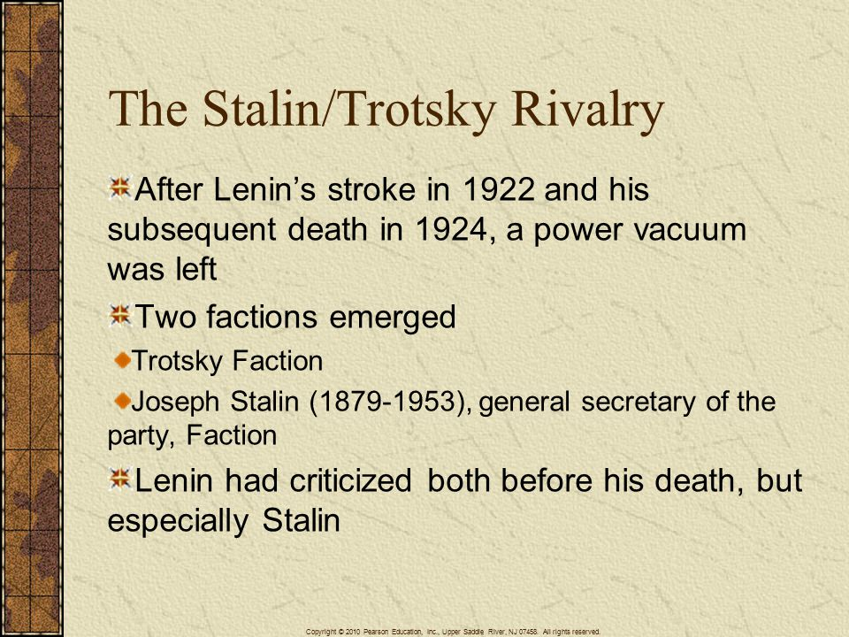 The Stalin/Trotsky Rivalry