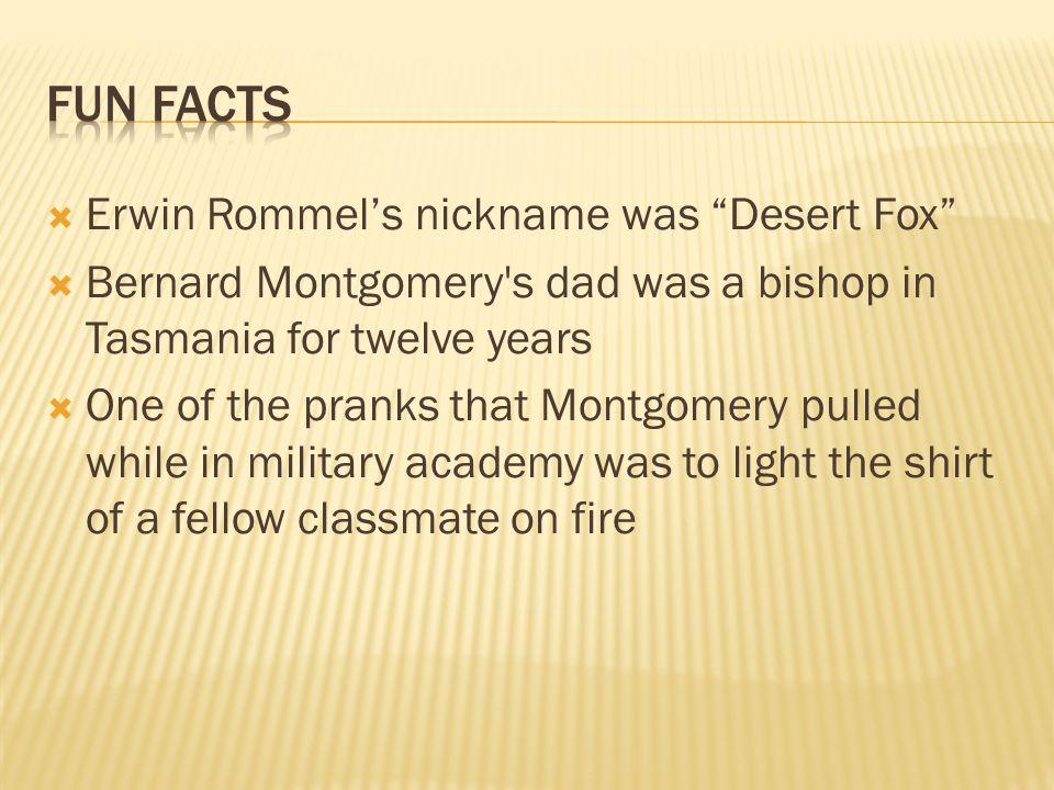 Fun facts Erwin Rommel's nickname was Desert Fox