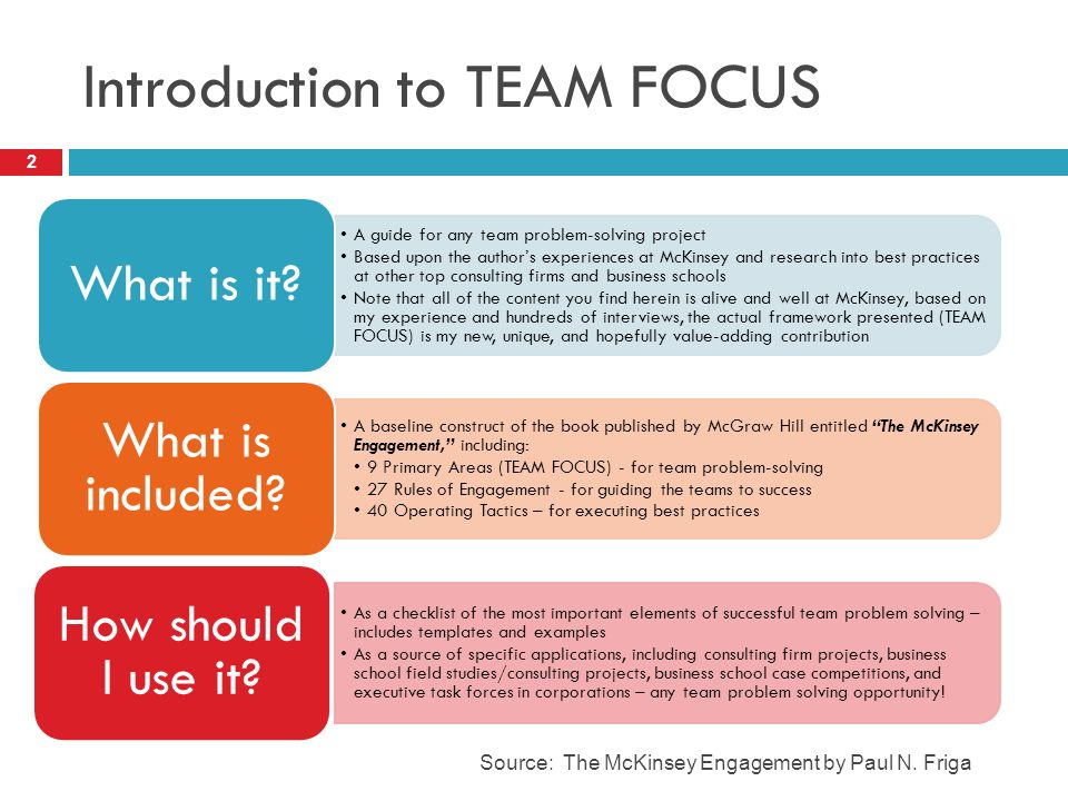 Introduction to TEAM FOCUS