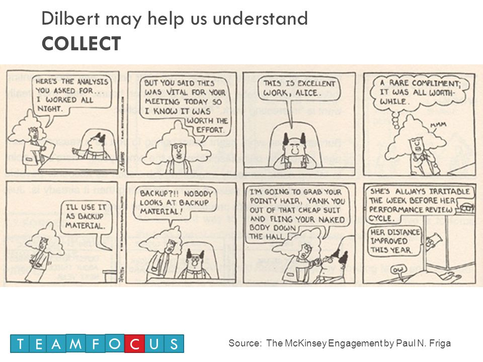 Dilbert may help us understand COLLECT