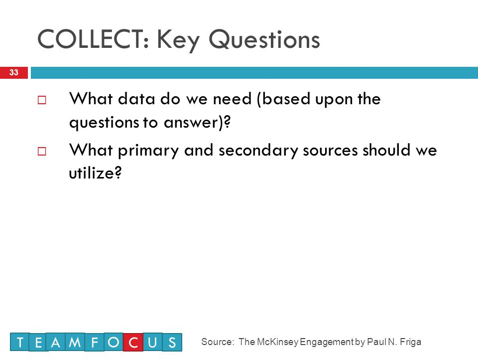 COLLECT: Key Questions