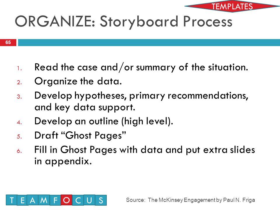 ORGANIZE: Storyboard Process