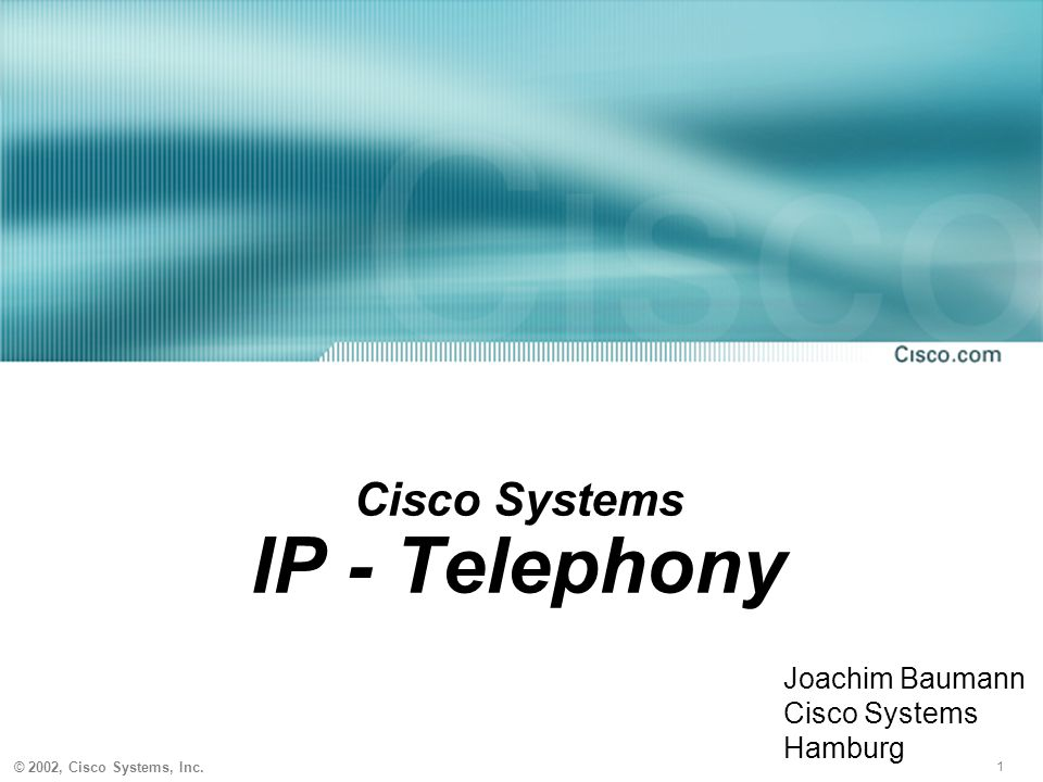Cisco Systems IP - Telephony