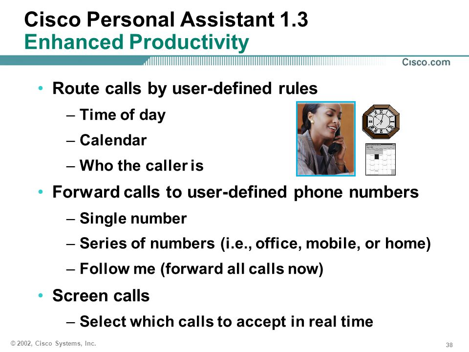Cisco Personal Assistant 1.3 Enhanced Productivity