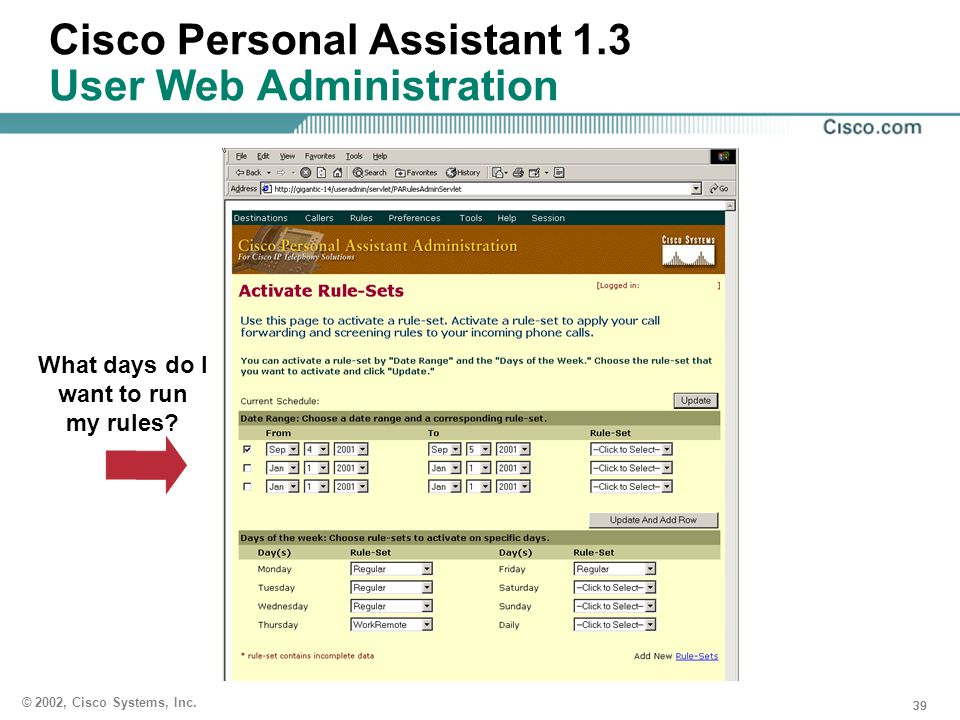 Cisco Personal Assistant 1.3 User Web Administration