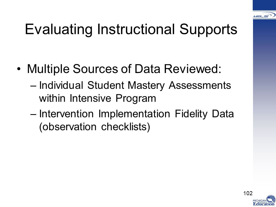 Evaluating Instructional Supports
