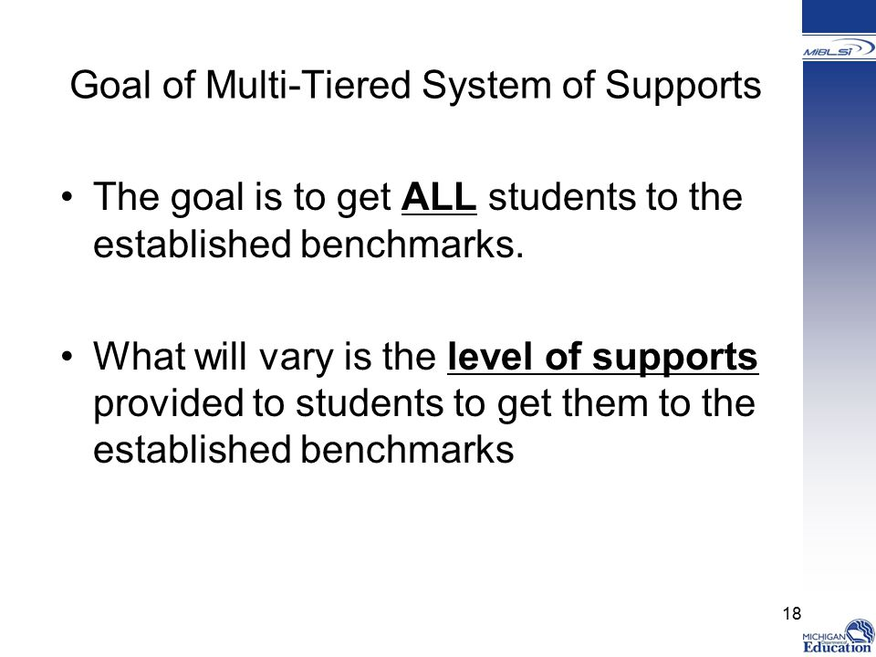 Goal of Multi-Tiered System of Supports