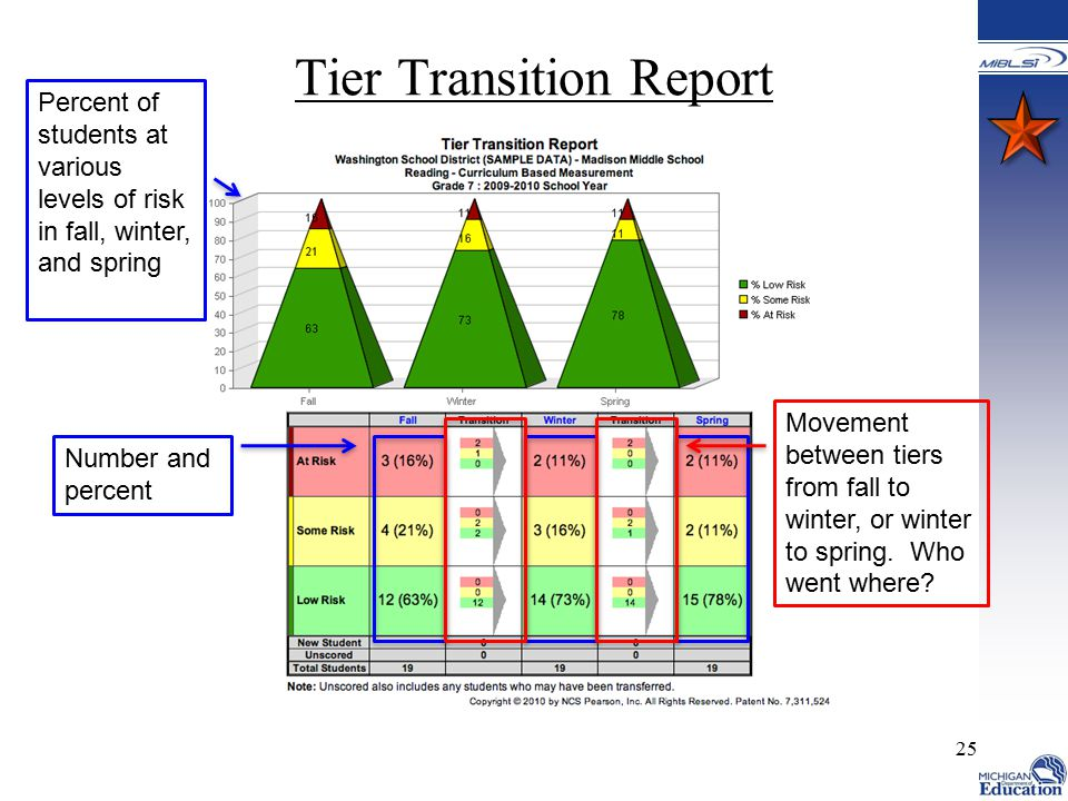Tier Transition Report