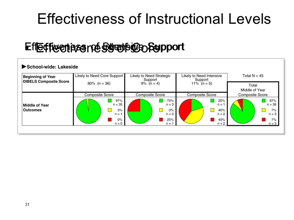 Effectiveness of Instructional Levels