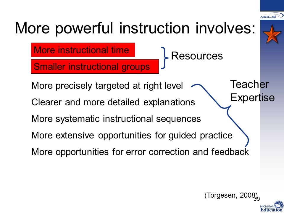 More powerful instruction involves:
