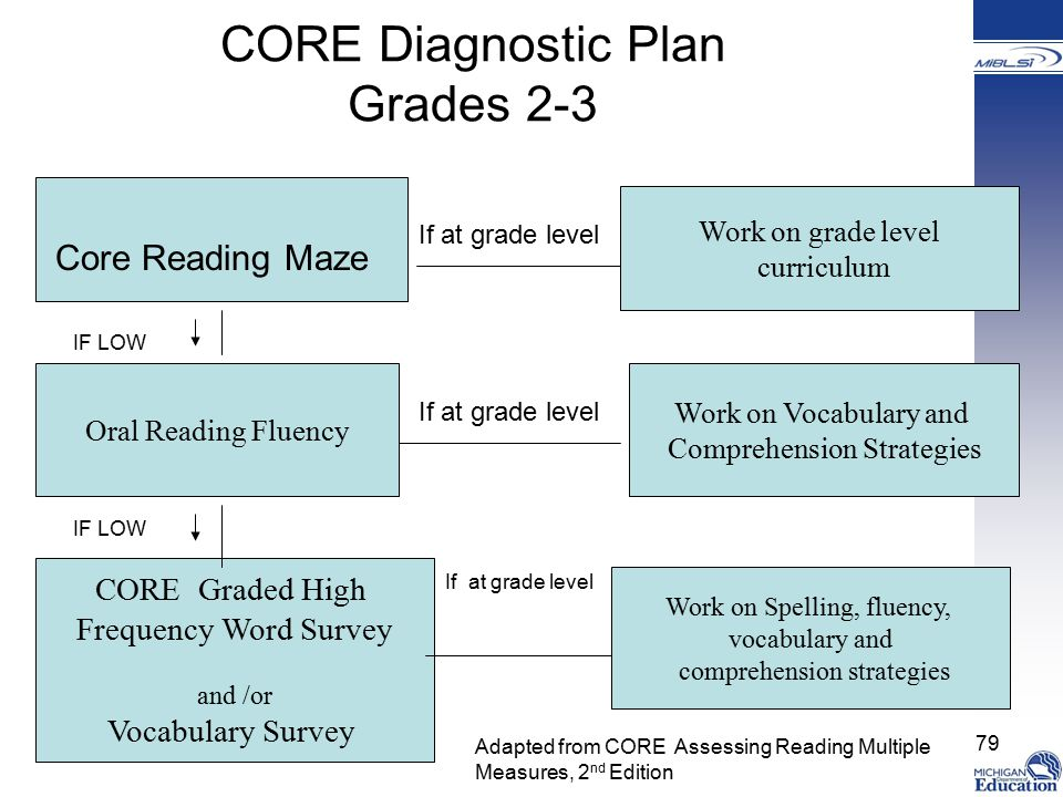 CORE Diagnostic Plan Grades 2-3